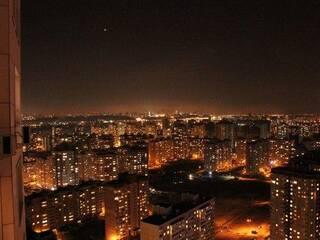 Вид на ночной Киев