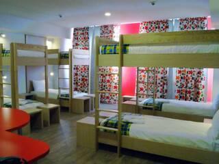 Кровать в 8-местном номере