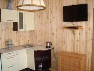 Деревянные коттеджи с кухней мини-студией!