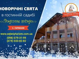 Святкування Нового року 2019 в гостинній садибі «Родинне гніздо» в селі Гармаки, Вінницька область.