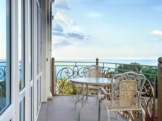 Вид с балкона Апартамент-студии