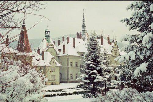 Картинки по запросу замок шенборна зима
