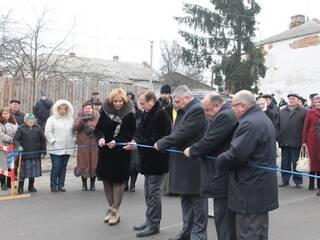 Торжественное открытие реконструированной дороги к Замку-музею Радомысль