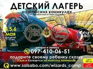 Детский лагерь SalsaBO Wizards Camp Киев, Киевская область