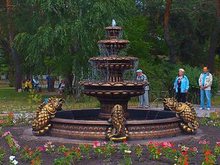 Реконструкция корпуса и новый фонтан - санаторий не стоит на месте