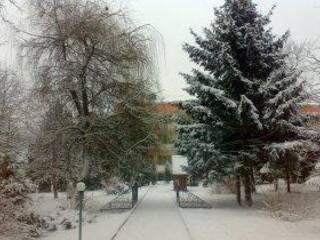 санаторій взимку